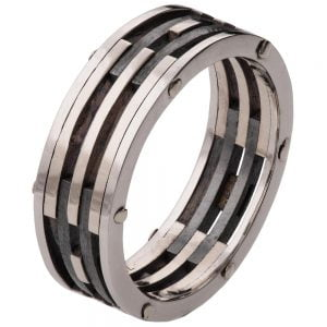 White Gold Men's Wedding Band BNG2