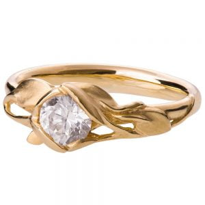 Leaves Engagement Ring #6 Yellow Gold and Diamond Catalogue