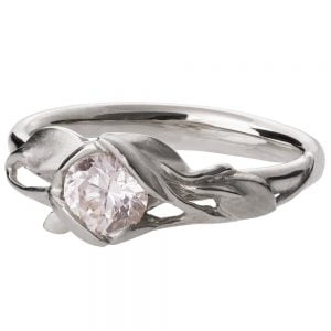 Leaves Engagement Ring #6 Platinum and Diamond Catalogue