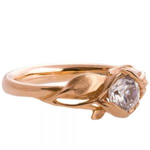 Leaves Engagement Ring #6 Rose Gold and Moissanite Catalogue