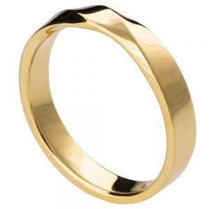 Yellow Gold Mobius Wedding Band