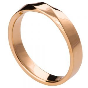 Rose Gold Mobius Wedding Band