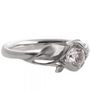Leaves Engagement Ring #6 Platinum and Moissanite Catalogue