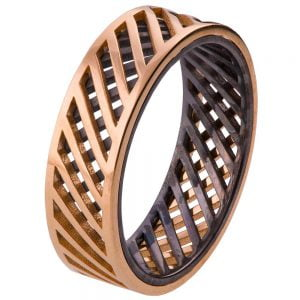Men's Wedding Band Rose Gold Grid 3 Catalogue