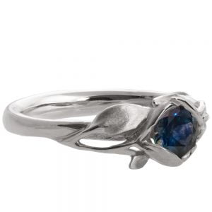 Leaves Engagement Ring #6 Platinum and Sapphire Catalogue
