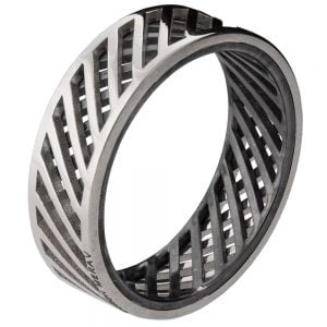 Men's Wedding Band Platinum Grid