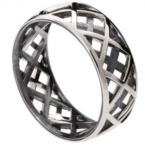 Men's Wedding Band Platinum Grid 5 Catalogue