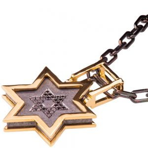 Men's Pendant Yellow Gold and Black Diamonds Star of David Catalogue
