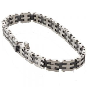 Men's White Gold Links Bracelet