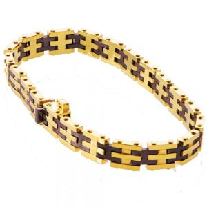 Men's Yellow Gold Links Bracelet