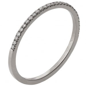 Half Eternity Band White Gold and Diamonds