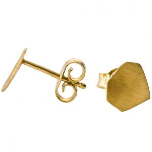 Parched Earth Earrings Yellow Gold Catalogue