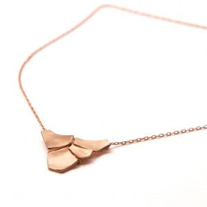 Rose Gold Parched Earth Pendant
