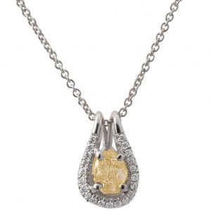 Raw Diamond Pendant White Gold Catalogue
