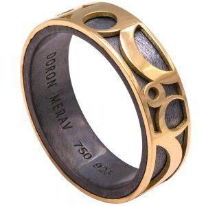 Circles Men's Wedding Band Yellow Gold Catalogue