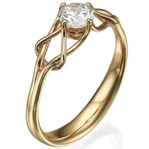 Celtic Engagement Ring Rose Gold and Moissanite