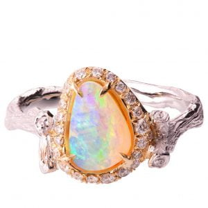 Australian Opal Ring Rose Gold