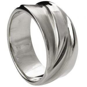 Wave Wedding Band White Gold 4 Catalogue