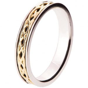 Celtic Wedding Band Yellow Gold