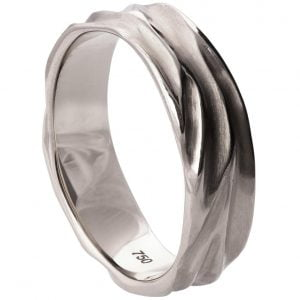 Dune Wedding Band White Gold 2 Catalogue
