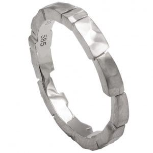 Bricks Wedding Band Platinum 2 Catalogue