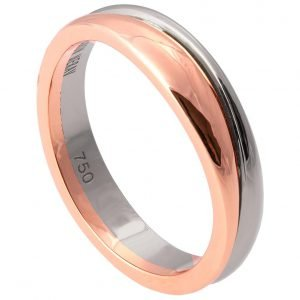 Geo Two Tone Wedding Band White and Rose Gold 2 Catalogue