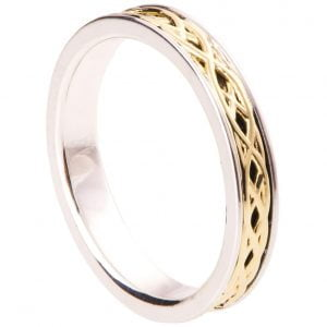 Yellow Gold Celtic Wedding Band