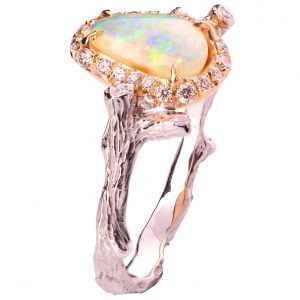 Opal Ring Rose Gold