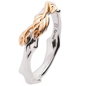 Twig and Leaf Wedding Band Rose Gold 7 Catalogue