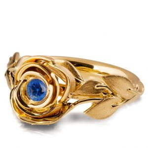 Rose Engagement Ring #1 Yellow Gold and Sapphire Catalogue