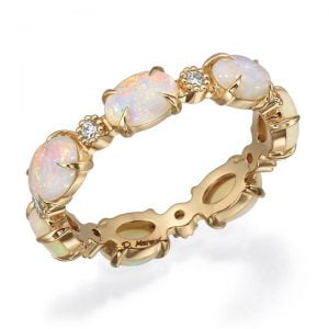 Rose Gold Opal Eternity Ring