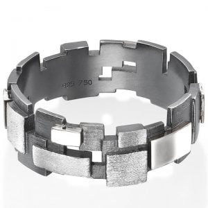 Men's Wedding Band White Gold Planes Catalogue