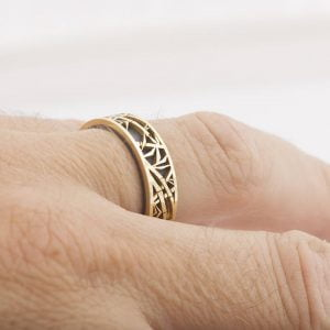 Bamboo Wedding Band White Gold Catalogue