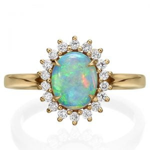 Opal and Diamonds Diana Engagement Ring Rose Gold Catalogue
