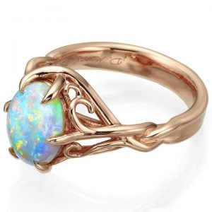 Opal Celtic Engagement Ring Rose Gold 10 Catalogue