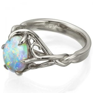 Opal Celtic Engagement Ring Platinum 10 Catalogue