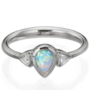 Opal and Diamonds White Gold Ring 11 Catalogue