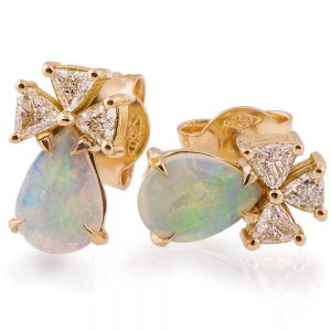 Opal Earrings Rose Gold and Diamonds Catalogue