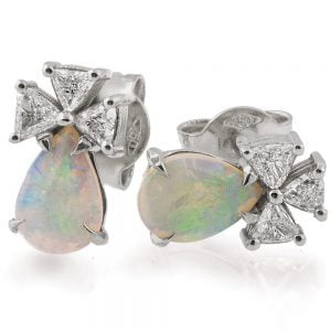 Opal Earrings White Gold and Diamonds Catalogue