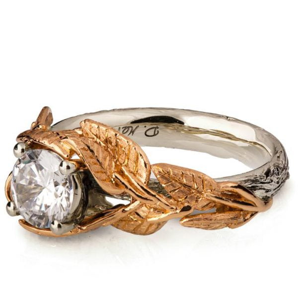 Twig and Leaves Engagement Ring Rose Gold and Diamond Catalogue