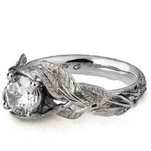 Twig and Leaves Engagement Ring White Gold and Diamond Catalogue