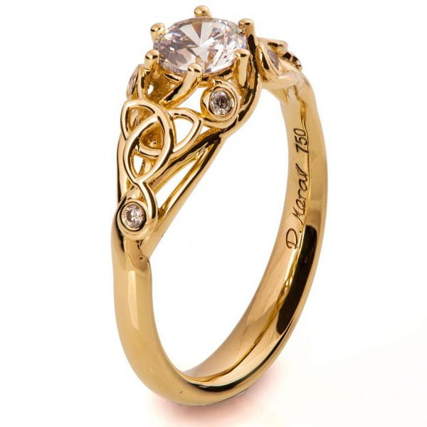 Knot Engagement Ring Rose Gold and Diamond
