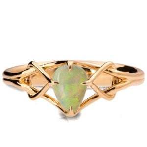 Opal Celtic Engagement Ring Rose Gold Catalogue