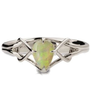Opal Celtic Engagement Ring Platinum Catalogue