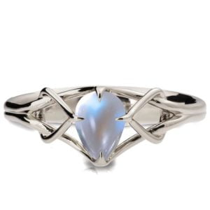 Moonstone Celtic Engagement Ring Platinum Catalogue