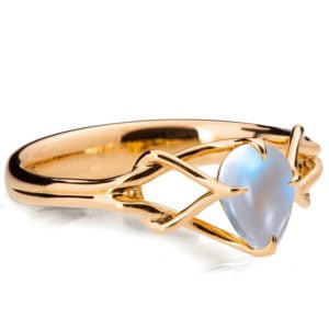 Moonstone Celtic Engagement Ring Rose Gold