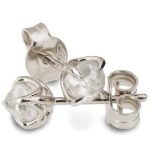 White Gold Rough Diamond Studs