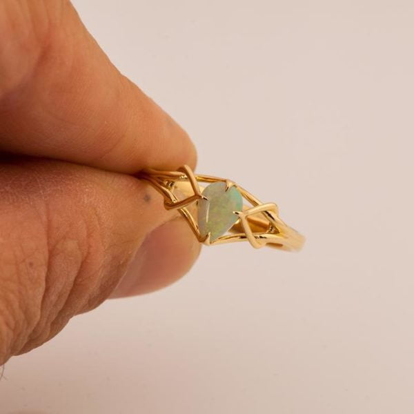 Opal Celtic Engagement Ring Yellow Gold Catalogue